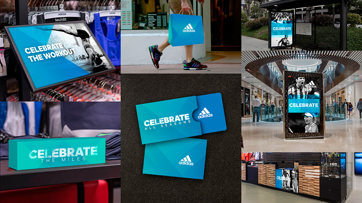 Adidas Retail and packaging